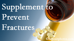 Executive Chiropractic of Iowa recommends nutritional supplementation with vitamin D and calcium to prevent osteoporotic fractures.
