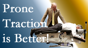 West Des Moines spinal traction applied lying face down – prone – is best according to the latest research. Visit Executive Chiropractic of Iowa.