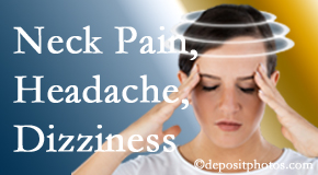 Executive Chiropractic of Iowa helps relieve neck pain and dizziness and related neck muscle issues.