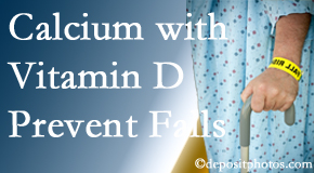 Calcium and vitamin D supplementation may be recommended to West Des Moines chiropractic patients who are at risk of falling.