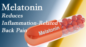 Executive Chiropractic of Iowa presents new findings that melatonin interrupts the inflammatory process in disc degeneration that causes back pain.