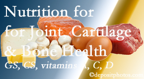 Executive Chiropractic of Iowa describes the benefits of vitamins A, C, and D as well as glucosamine and chondroitin sulfate for cartilage, joint and bone health.