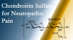 Executive Chiropractic of Iowa finds chondroitin sulfate to be an effective addition to the relieving care of sciatic nerve related neuropathic pain.