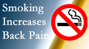 Executive Chiropractic of Iowa explains that smoking intensifies the pain experience especially spine pain and headache.