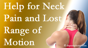Executive Chiropractic of Iowa helps neck pain patients with limited spinal range of motion find relief of pain and restored motion.