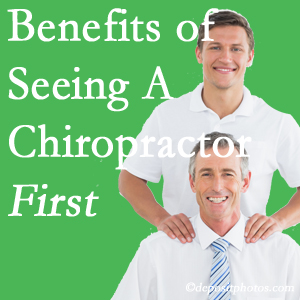 Getting West Des Moines chiropractic care at Executive Chiropractic of Iowa first may reduce the odds of back surgery need and depression.