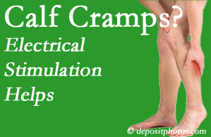 West Des Moines calf cramps related to back conditions like spinal stenosis and disc herniation find relief with chiropractic care's electrical stimulation.