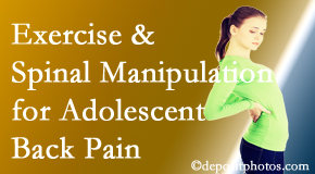 Executive Chiropractic of Iowa uses West Des Moines chiropractic and exercise to help back pain in adolescents.