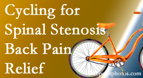Executive Chiropractic of Iowa encourages exercise like cycling for back pain relief from lumbar spine stenosis.