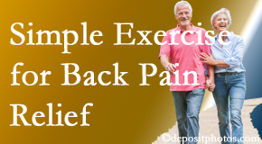Executive Chiropractic of Iowa encourages simple exercise as part of the West Des Moines chiropractic back pain relief plan.