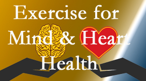 A healthy heart helps maintain a healthy mind, so Executive Chiropractic of Iowa encourages exercise.
