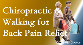 Executive Chiropractic of Iowa encourages walking for back pain relief in combination with chiropractic treatment to maximize distance walked.