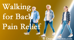 Executive Chiropractic of Iowa often recommends walking for West Des Moines back pain sufferers.