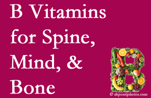 West Des Moines bone, spine and mind benefit from exercise and vitamin B intake.