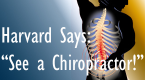 West Des Moines chiropractic for back pain relief urged by Harvard