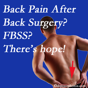 West Des Moines chiropractic care offers a treatment plan for relieving post-back surgery continued pain (FBSS or failed back surgery syndrome).