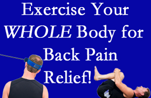 West Des Moines chiropractic care includes exercise to help enhance back pain relief at Executive Chiropractic of Iowa.