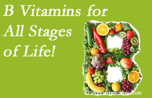Executive Chiropractic of Iowa suggests a check of your B vitamin status for overall health throughout life.