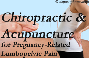West Des Moines chiropractic and acupuncture may help pregnancy-related back pain and lumbopelvic pain.