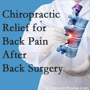 Executive Chiropractic of Iowa offers back pain relief to patients who have already undergone back surgery and still have pain.