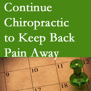 Continued West Des Moines chiropractic care fosters back pain relief.