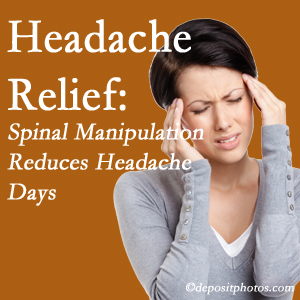 West Des Moines chiropractic care at Executive Chiropractic of Iowa may reduce headache days each month.