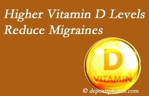 Executive Chiropractic of Iowa shares a new report that higher Vitamin D levels may reduce migraine headache incidence.