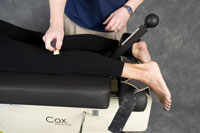 West Des Moines chiropractic trigger point therapy in the leg